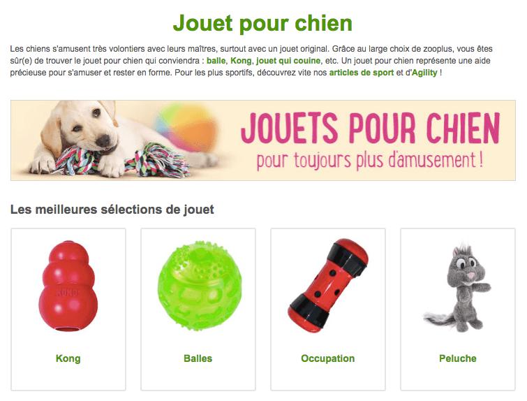 jouet pour chien zooplus